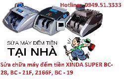 Sửa chữa máy đếm tiền XINDA SUPER BC-28, BC - 21F, 2166F, BC - 19